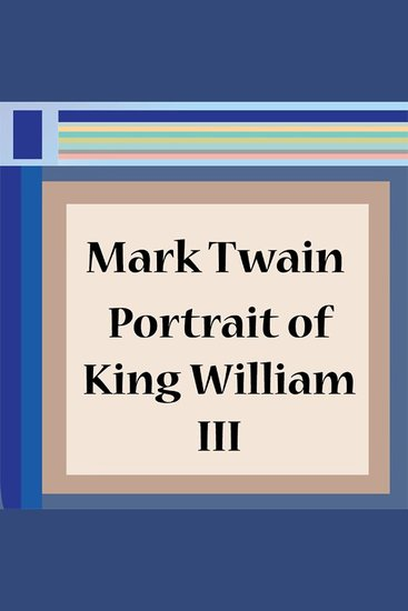 Portrait of King William III - cover