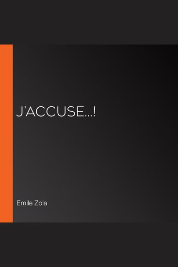 J'accuse! - cover