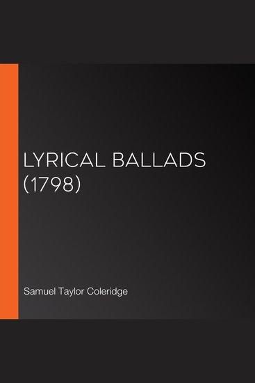 Lyrical Ballads (1798) - cover