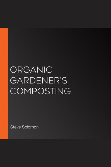 Organic Gardener's Composting - cover