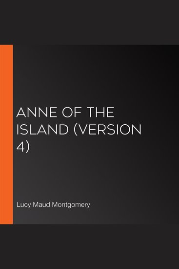 Anne of the Island (version 4) - cover