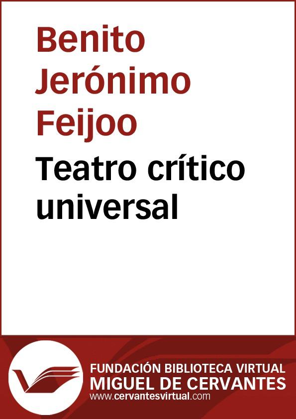 Teatro crítico universal - cover