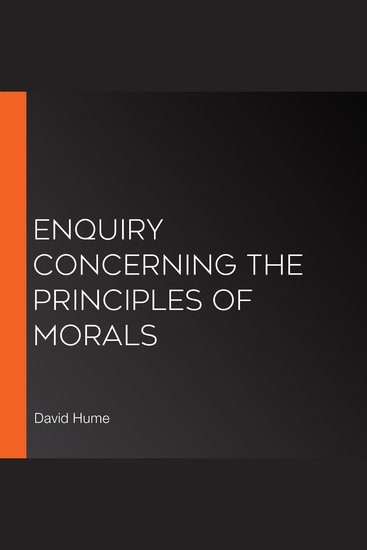 Enquiry Concerning the Principles of Morals - cover