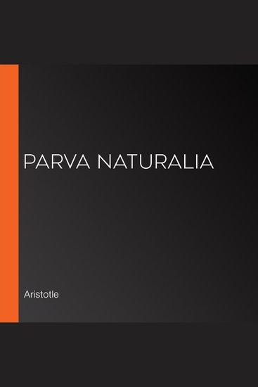 Parva Naturalia - cover