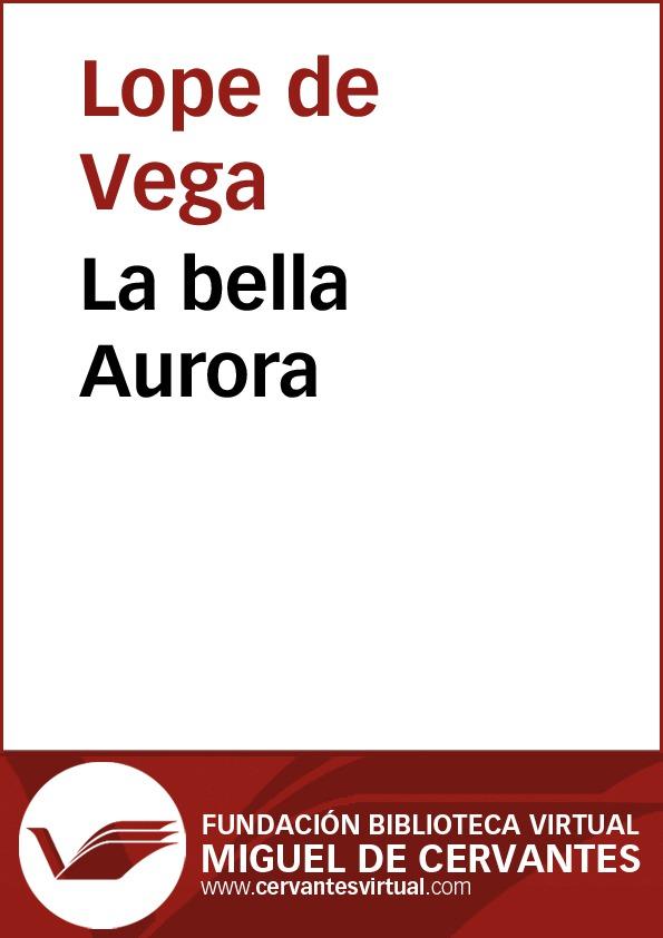 La bella Aurora - cover