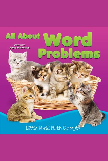 All About Word Problems - Little World Math Concepts - cover