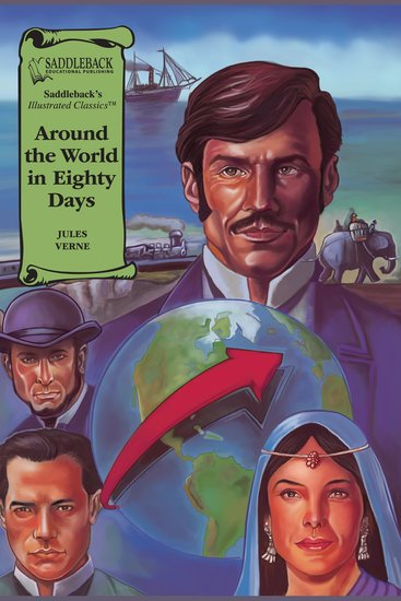 Around the World in Eighty Days (A Graphic Novel Audio) - Illustrated Classics - cover