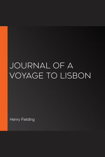 Journal of a Voyage to Lisbon - cover