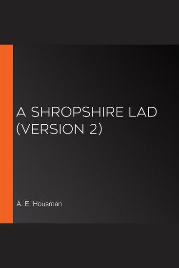 A Shropshire Lad (version 2) - cover