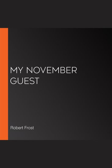 My November Guest - cover