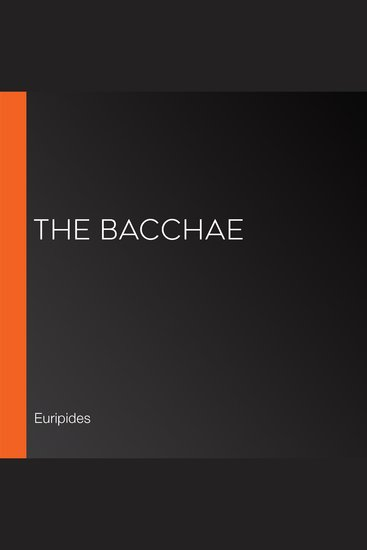 The Bacchae - cover