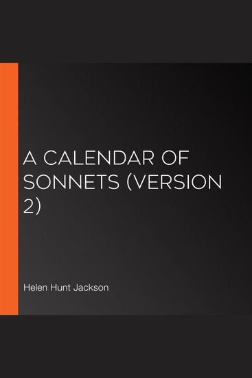 Calendar of Sonnets A (Version 2) - cover