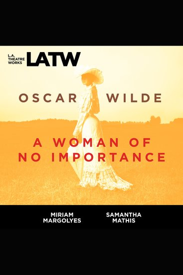Woman of No Importance A - cover