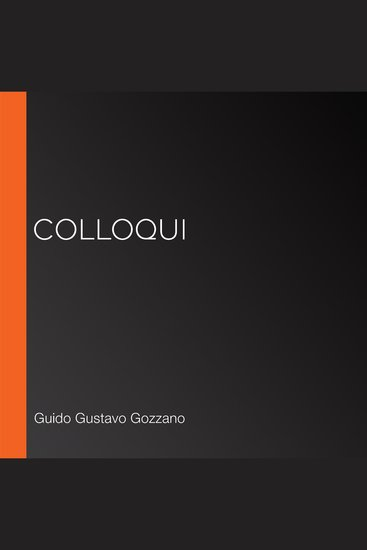 Colloqui - cover