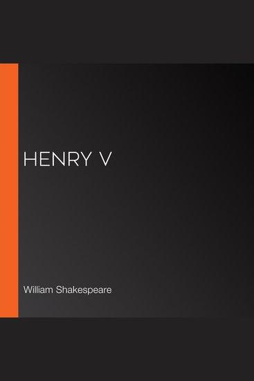 Henry V - cover