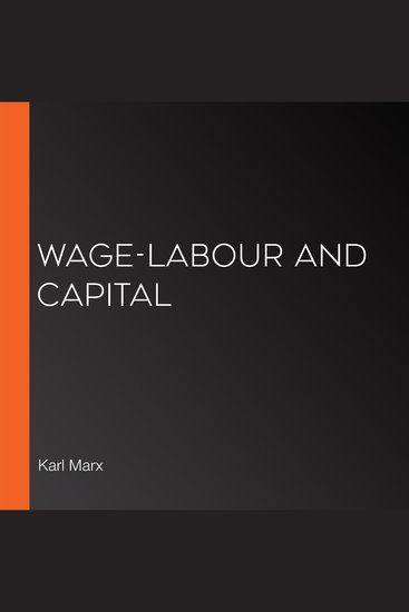 Wage-Labour and Capital - cover