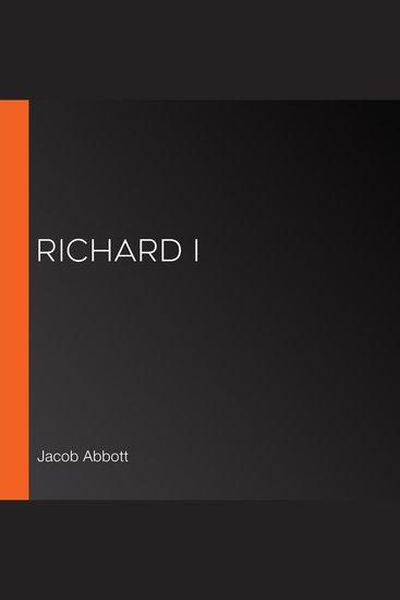 Richard I - cover