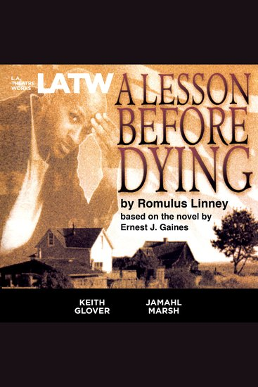 A Lesson Before Dying - cover