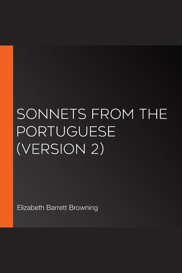 Sonnets from the Portuguese (version 2) - cover