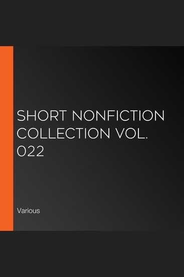 Short Nonfiction Collection Vol 022 - cover