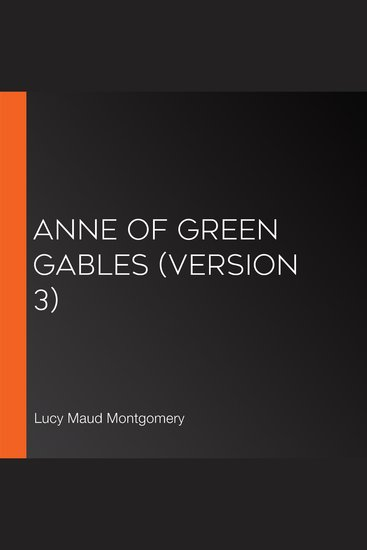 Anne of Green Gables (version 3) - cover