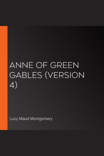 Anne of Green Gables (version 4) - cover