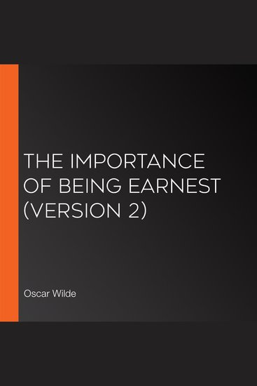 The Importance of Being Earnest (version 2) - cover