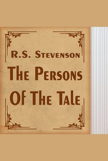 The Persons of the Tale - cover
