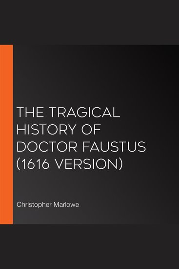 The Tragical History of Doctor Faustus (1616 version) - cover