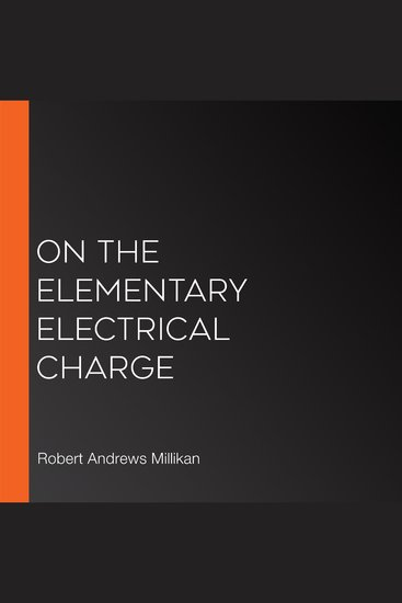 On the Elementary Electrical Charge - cover