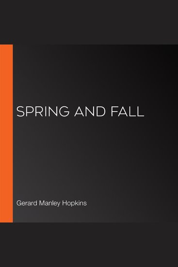 Spring and Fall - cover