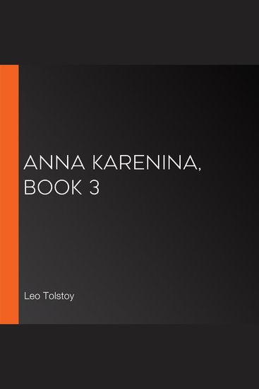 Anna Karenina Book 3 - cover