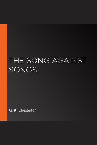The Song Against Songs - cover