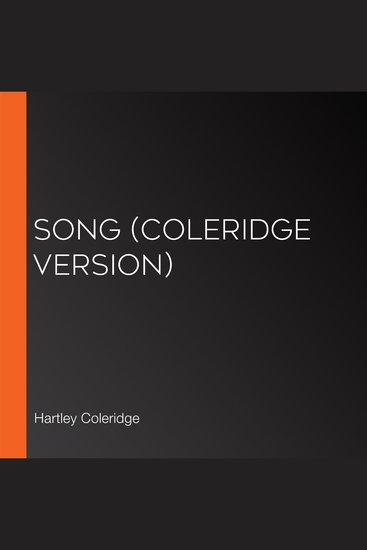 Song (Coleridge version) - cover