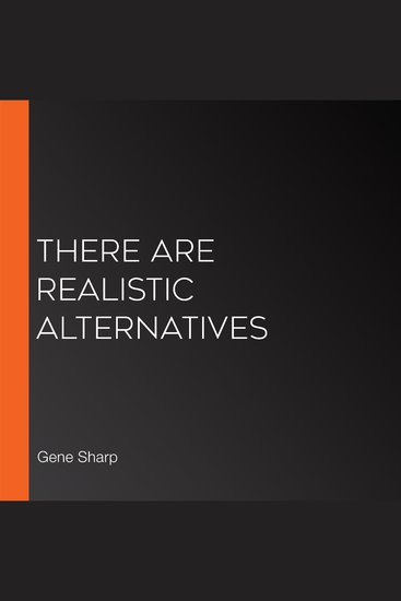 There Are Realistic Alternatives - cover