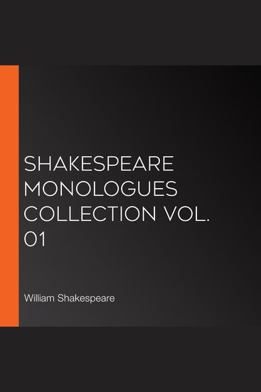 Shakespeare Monologues Collection vol 01 - cover
