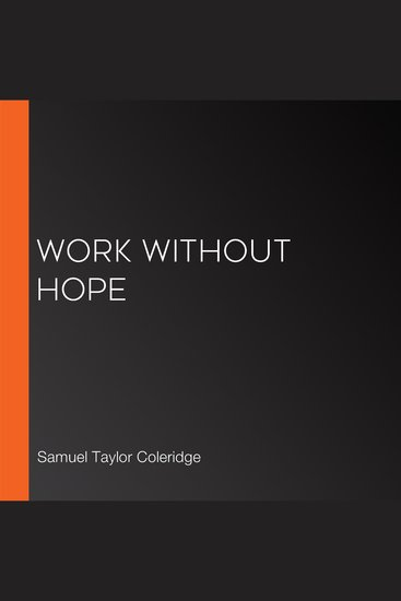 Work without Hope - cover