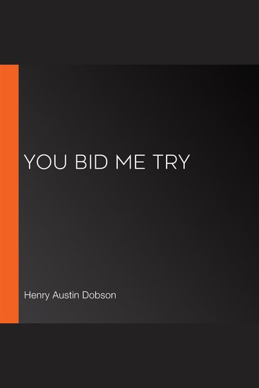 You Bid Me Try - cover