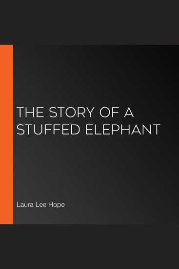 The Story of a Stuffed Elephant - cover