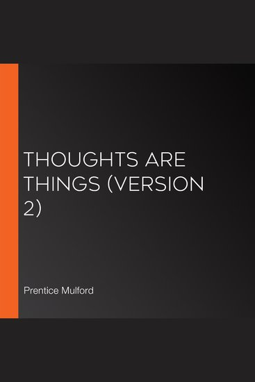 Thoughts are Things (Version 2) - cover