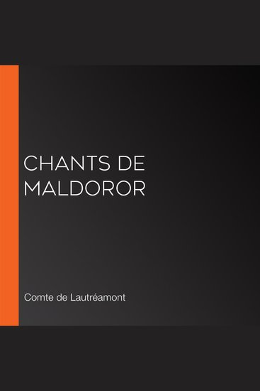 Chants de Maldoror - cover