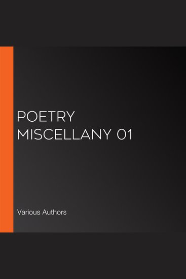 Poetry Miscellany 01 - cover