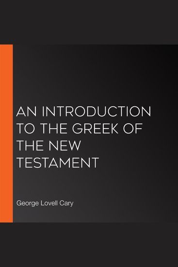 Introduction to the Greek of the New Testament An - cover