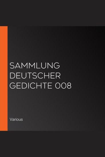Sammlung deutscher Gedichte 008 - cover