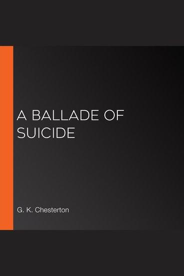 A Ballade of Suicide - cover