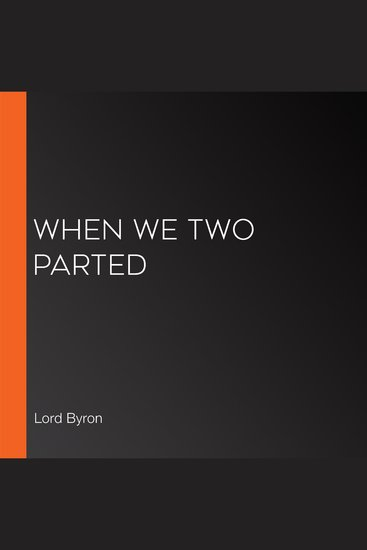 When We Two Parted - cover