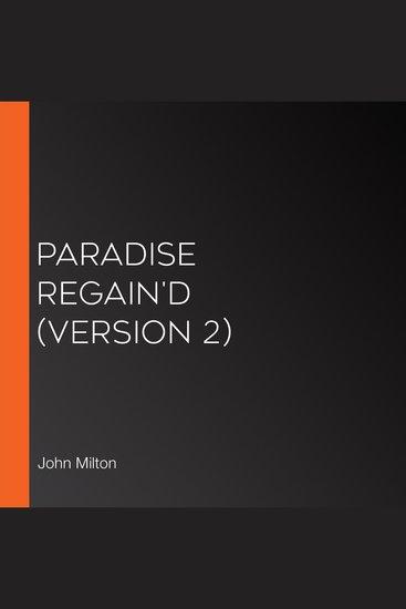 Paradise Regain'd (version 2) - cover