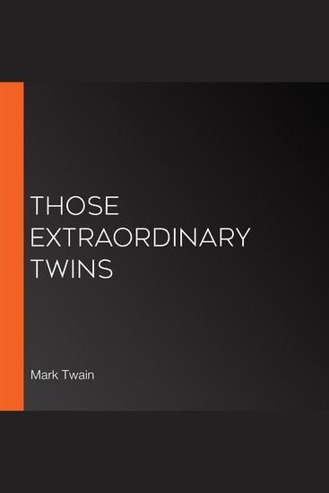 Those Extraordinary Twins - cover