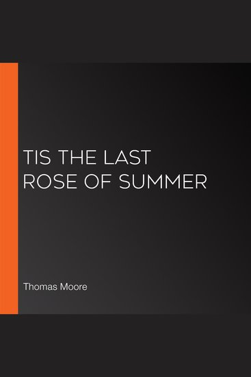 Tis the Last Rose of Summer - cover