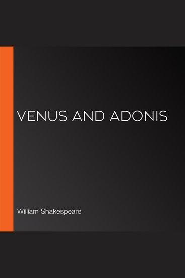 Venus and Adonis - cover